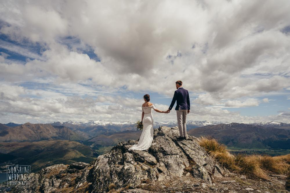 View from Remarkables / Queenstown destination wedding