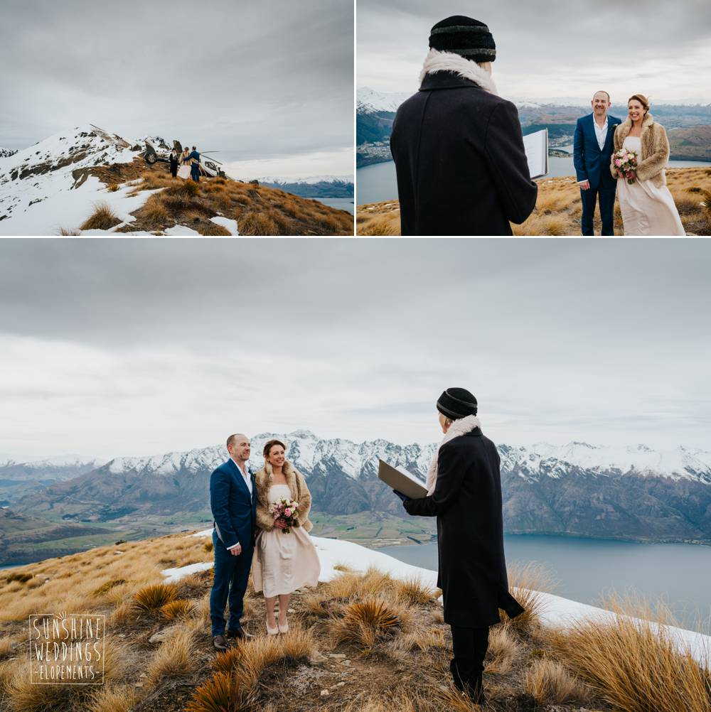 Wedding ceremony on Cecil Peak with Tracey Maclaren
