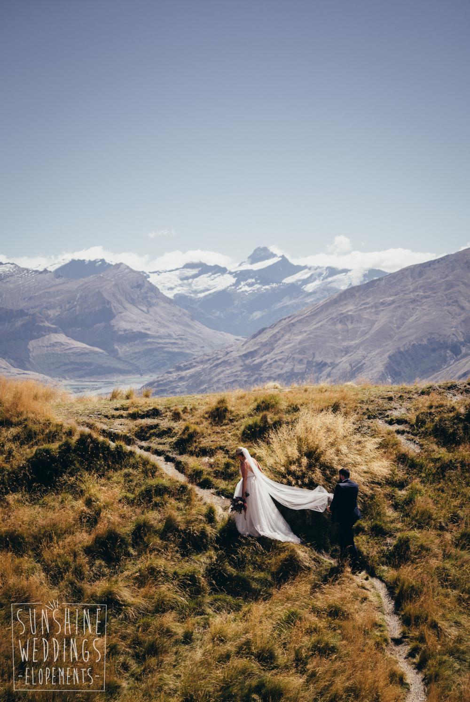 Mount Roy Coromandel Peak bride