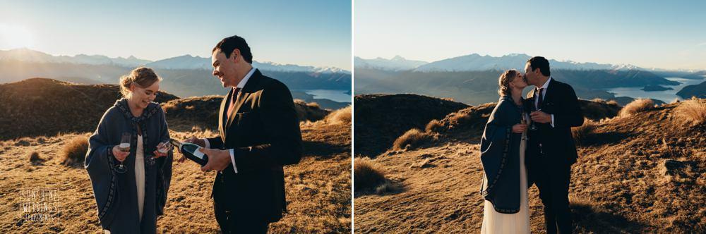 sunset Queenstown mountain wedding photography