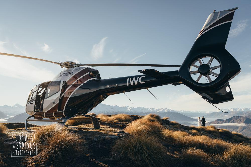 heliworks helicopter on Coromandel Peak Lake Wanaka