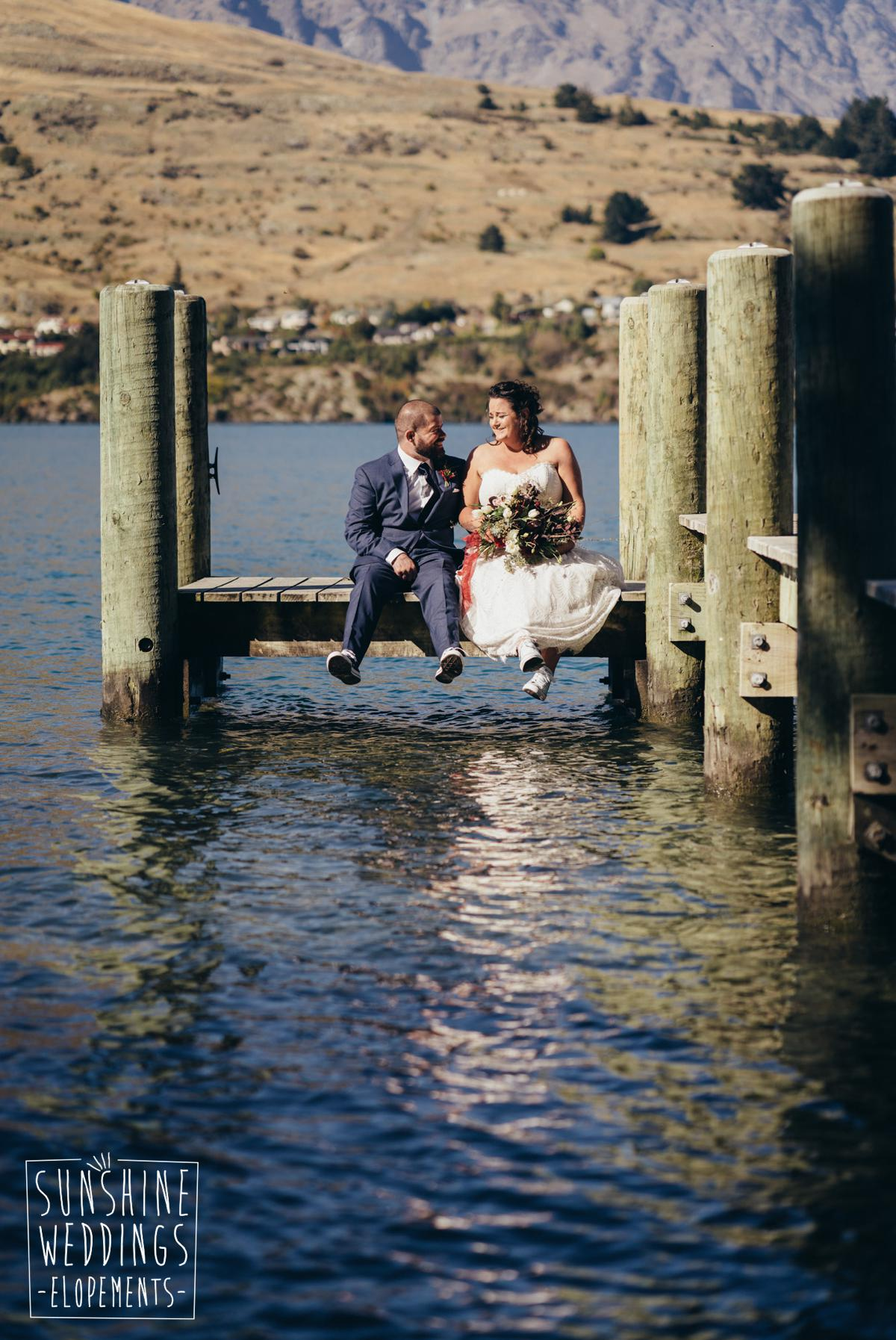 Elopement wedding lake Queenstown