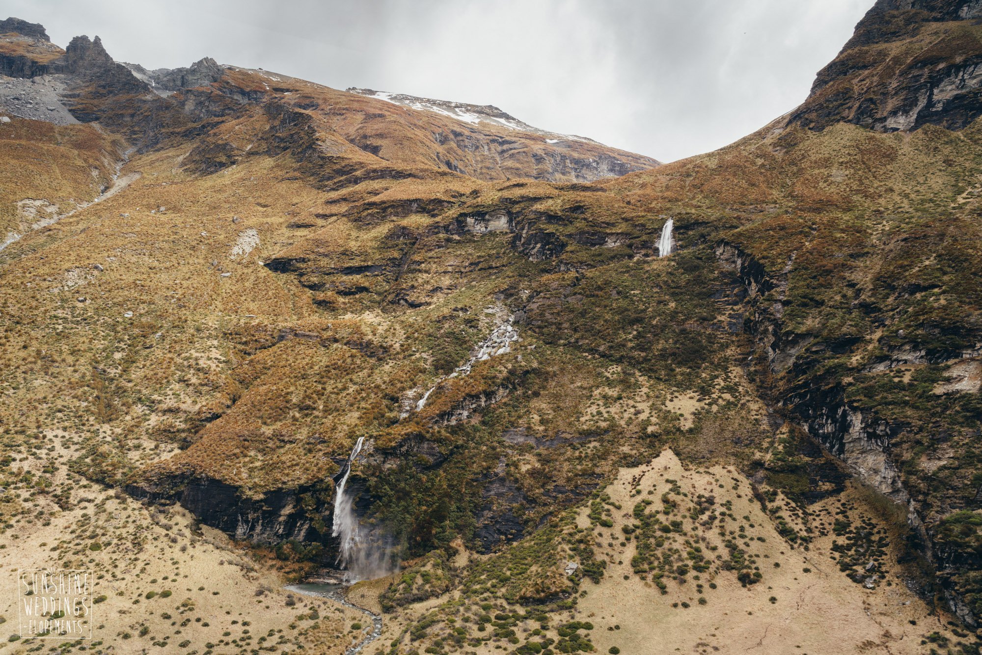 Earnslaw Burn waterfalls