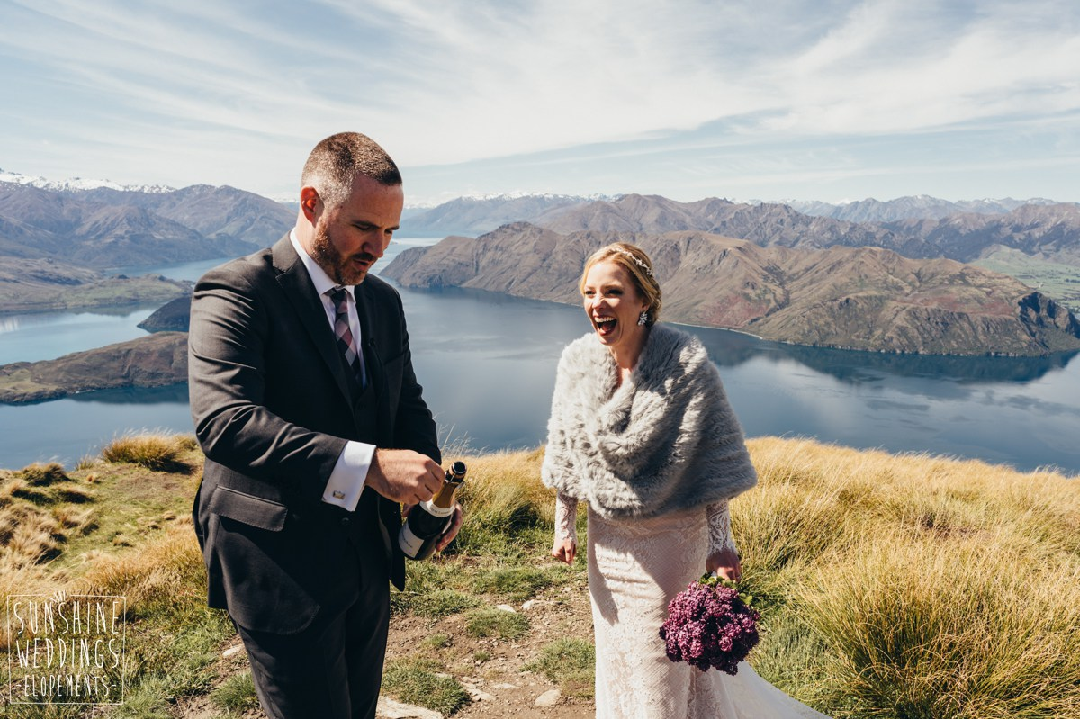 coromandel peak wedding wanaka