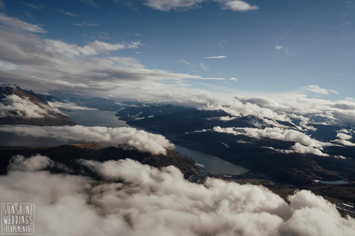 aerial view queenstown