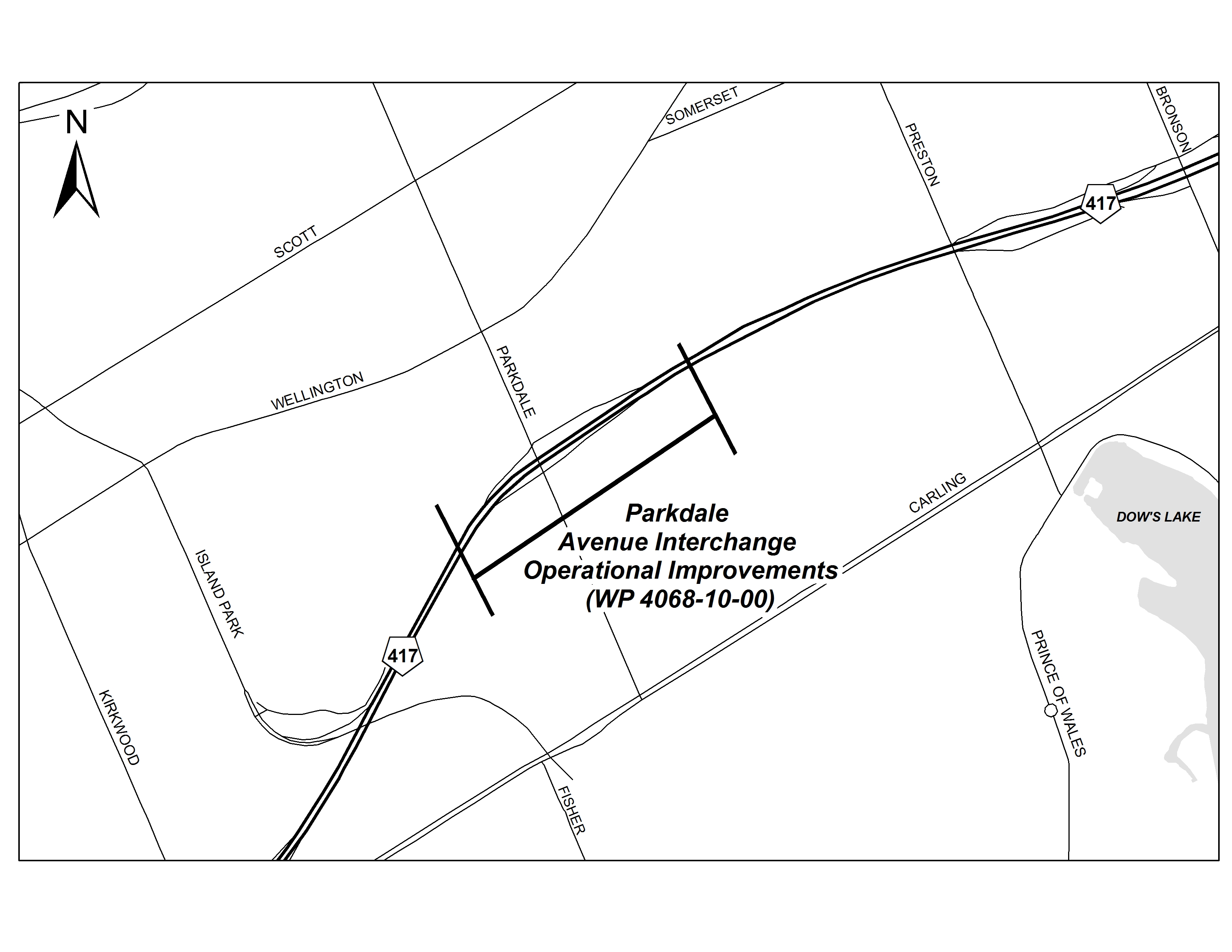 Queensway Expansion East » Project Area