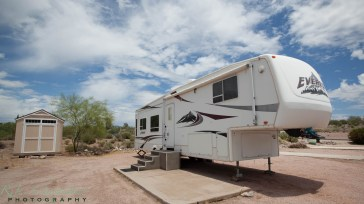 A 5th Wheel at Queen Valley RV Resort