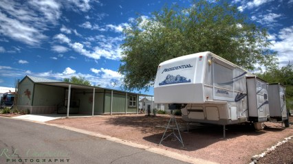 Large RV Spaces available at Queen Valley RV Resort