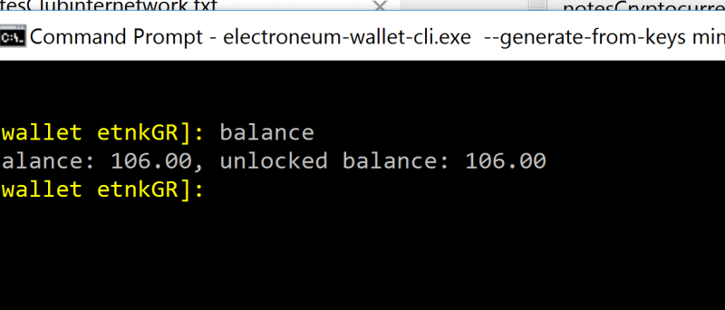 Electroneu CLI Wallet Balance