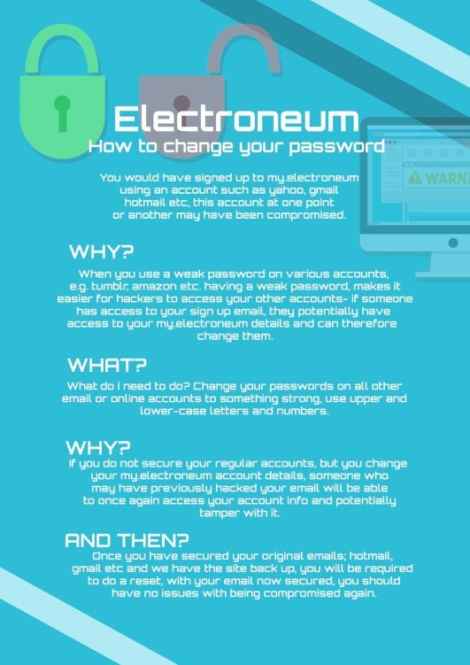 Electroneum Change Your Email Account Password