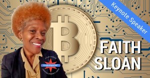 Faith Sloan - QueenWiki - Chicago Consumer Cryptocurrency Expo Event and Full Moon Party Keynote Speaker