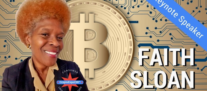 "Faith ""QueenWiki"" Sloan - Chicago Consumer Cryptocurrency Expo and Full Moon Party Keynote Speaker"