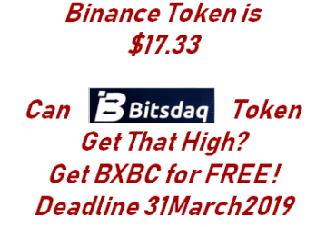 FRee BXBC from Bitsdaq by Bittrex