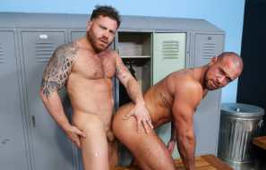 "Pride Studios: Riley Mitchel fucks muscle hunk Michael Roman in ""Look At Those Glutes"""