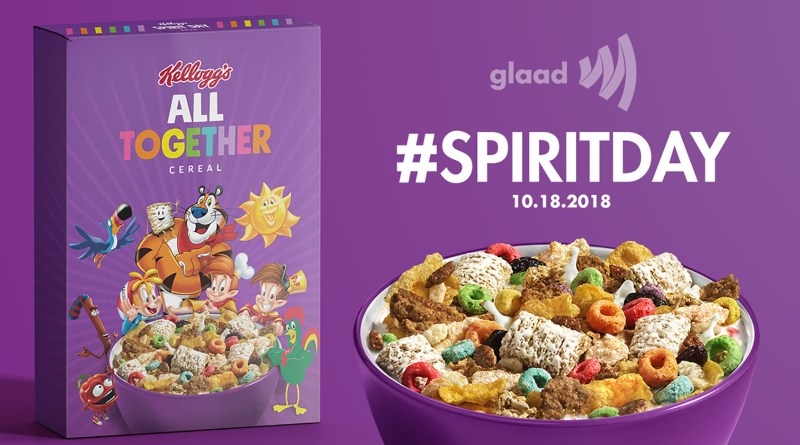 "Kellogg Partners with GLAAD For Spirit Day, Launching ""All Together"" Cereal"