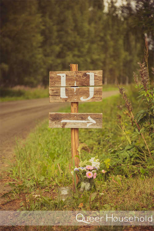 Rustic wedding sign - Queer Household