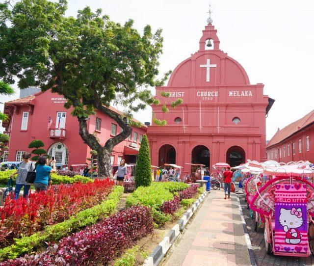 Christ Church Malacca Things To Do In Gay Melaka Malaysia