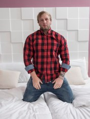 Straight beefcake Brick Moorewood barebacks sex hungry gay boy Anthony Bond
