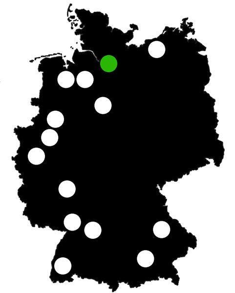Queerscope, Deutschland-Karte mit Hamburg hervorgehoben