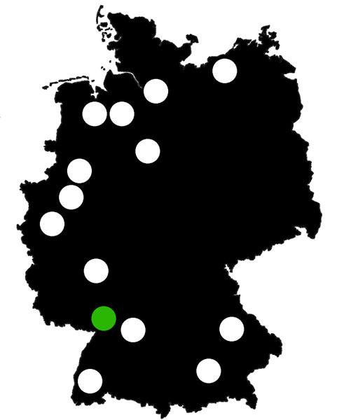 Queerscope, Deutschland-Karte mit Karlsruhe hervorgehoben