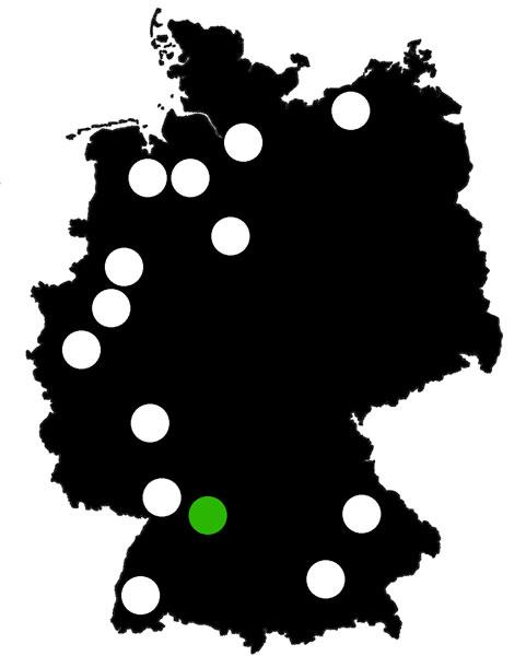 Queerscope, Deutschland-Karte mit Esslingen hervorgehoben