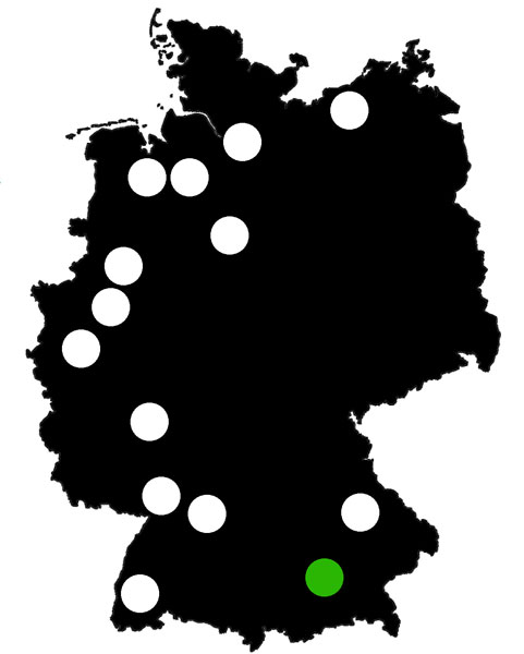 Queerscope, Deutschland-Karte mit München hervorgehoben