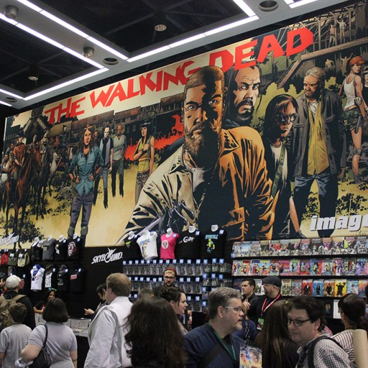 2015 ECCC Walking Dead Exhibitor Booth