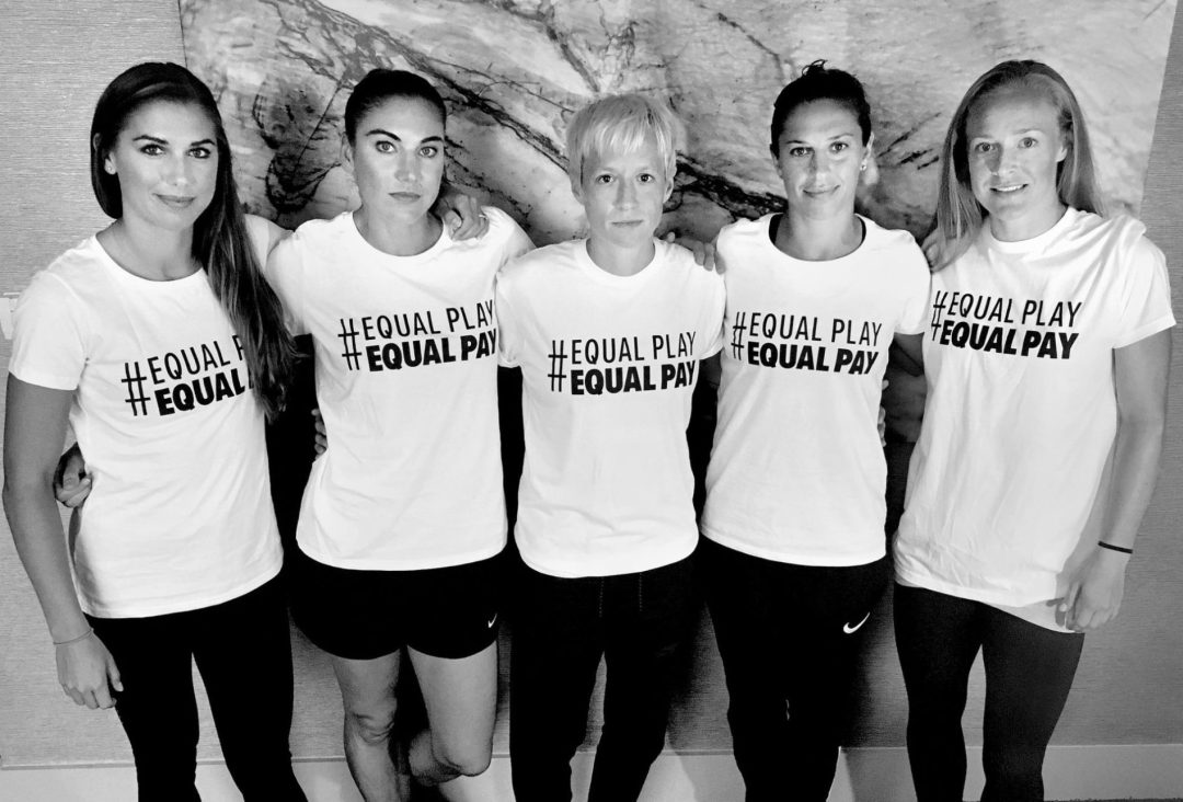 Alex Morgan, Hope Solo, Megan Rapinoe, Carli Lloyd and Becky Sauerbrunn