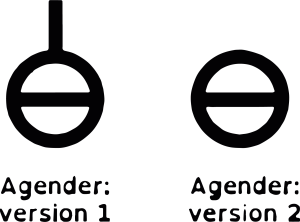 Queer Tarot: Agender Symbol