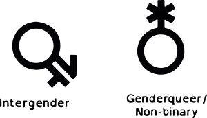 Queer Tarot: Inter gender Gender queer non binary Symbol