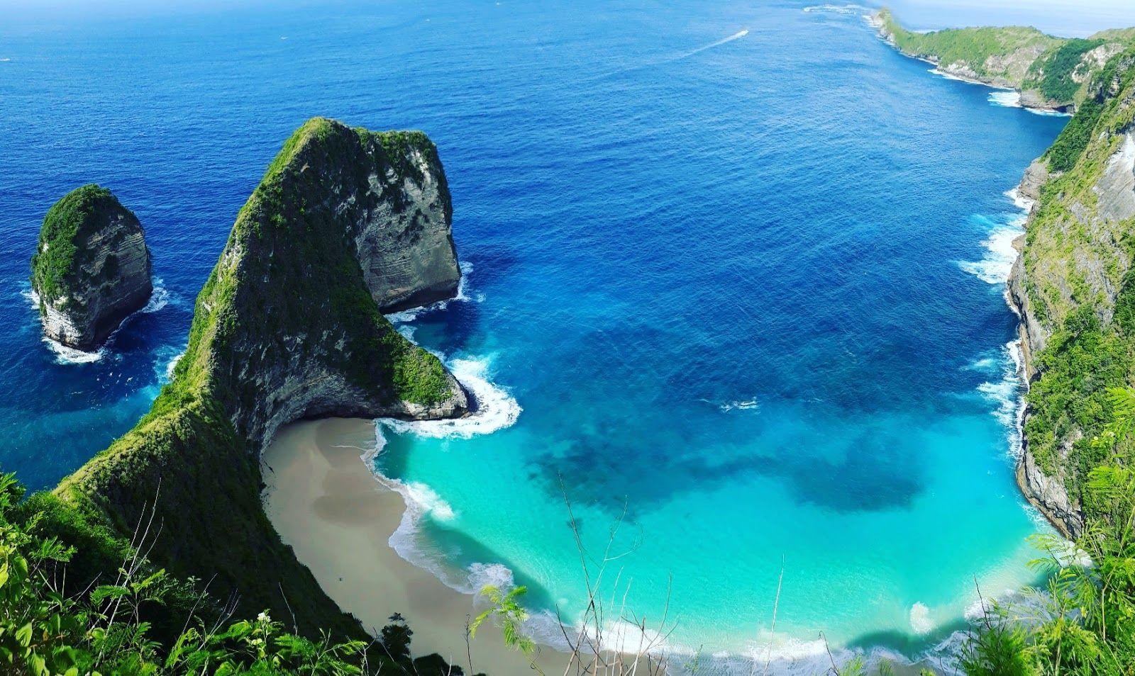 10 Gambar Pantai Kelingking Beach Nusa Penida Pulau Bali