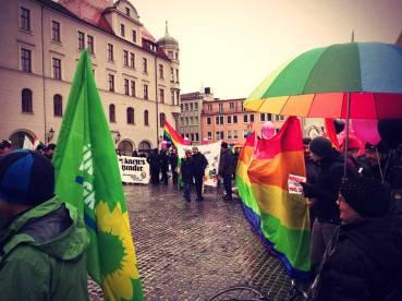 Gegendemonstration zur Demo für Alle in Augsburg