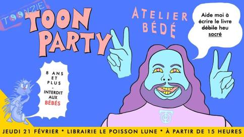 Atelier BD TOON PARTY avec Toonzie
