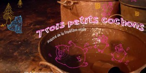 Trois Petits Cochons au Badaboum Théâtre
