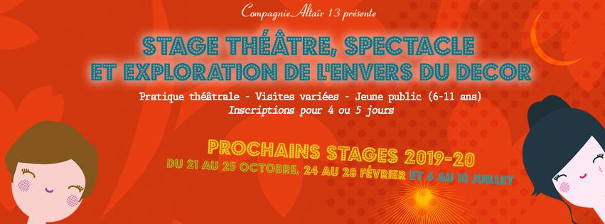 Stage vacances theatre l'envers du décor