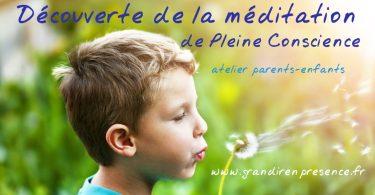 Atelier parents-enfants: Méditation de pleine conscience