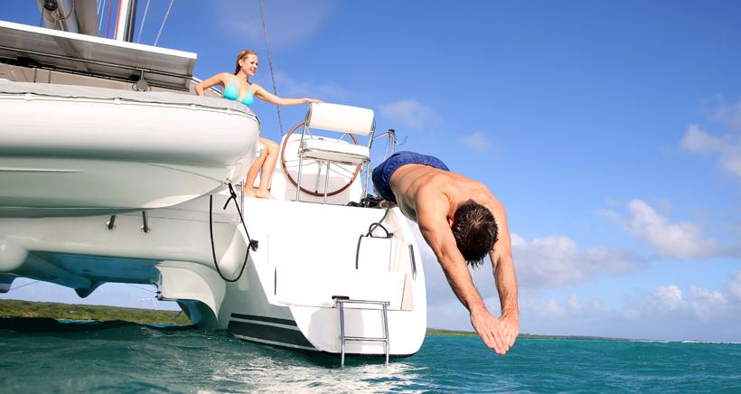 Vacances, location d'un catamaran