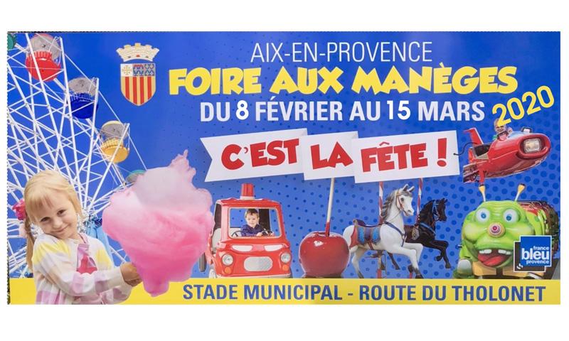Foire aux manèges d'Aix en Provence dès le 8 février