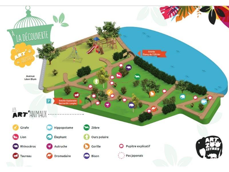 Art Zoo Istres plan