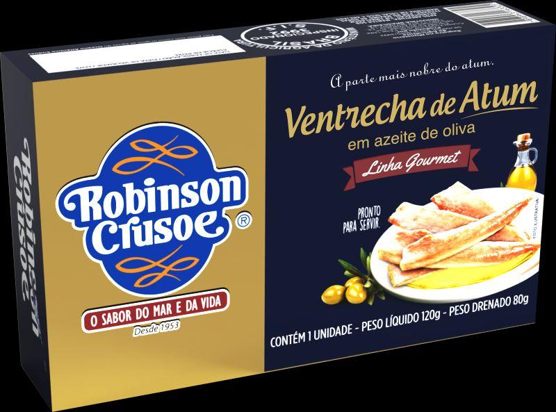 Robinson Crusoé aposta na ventrecha de atum em azeite de oliva