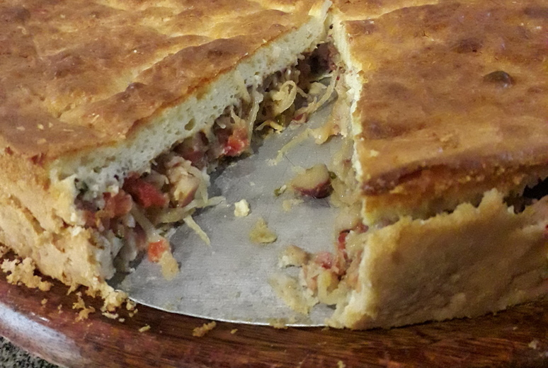 A deliciosa torta de pinhão da Fazenda Aracatu