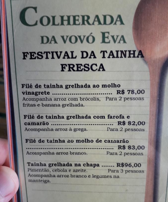 Dona Eva faz tainha em 4 versões no Guarujá (SP)