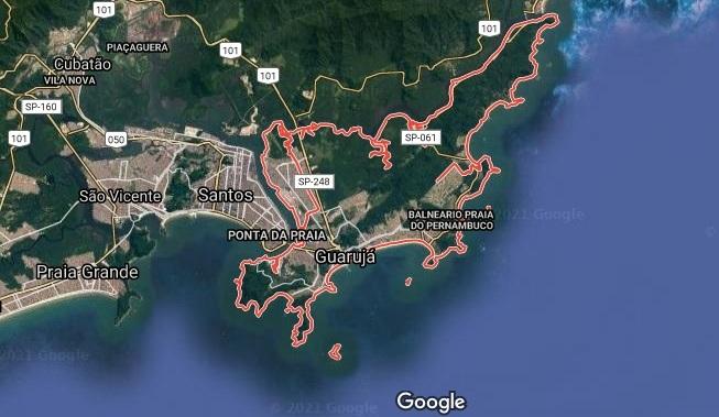Praias do Guarujá revelam várias paisagens