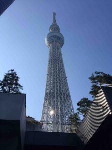 Torre Tokyo Skytree vista desde la base