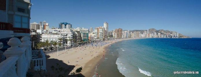 Panorámica playa de Levante Benidorm