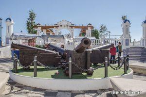 Cañones plaza Castelar Benidorm