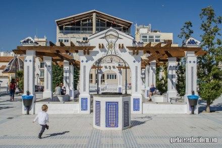 Pozo plaza de Castell Benidorm