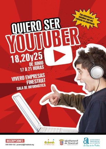 quiero ser youtuber, taller organizado por la concejalía de Juventud de Finestrat