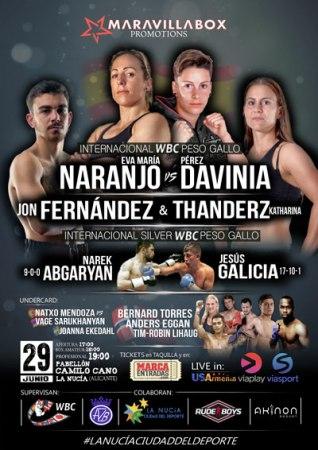 El Pabellón Municipal Camilo Cano de La Nucía acogerá esta Velada Internacional de Boxeo