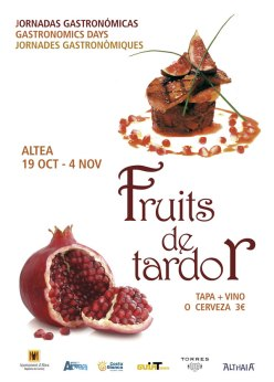 Jornadas Gastronomicas Altea Fruits de Tardor cartel